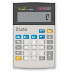 office calculator vector image vector image