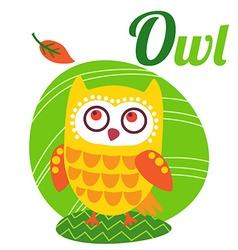 OwlLetter vector image vector image