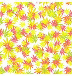 Seamless texture marijuana one vector
