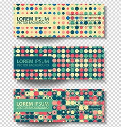 set of colored rectangular banners vector image vector image