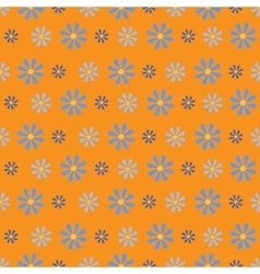 Small Simple Flowers on Orange Background vector image vector image