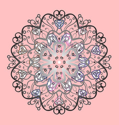 Snowflake snowflake icon winter mandala vector
