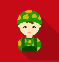 soldier flat icon for web and mobile vector image