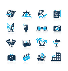 summer vacations icons vector image vector image