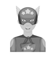 Superman single icon in monochrome style superman vector