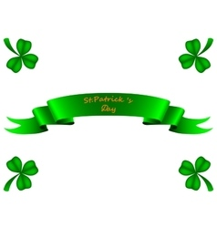 Tape greeting card st patrick vector