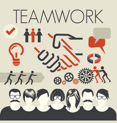 teamwork vector image vector image