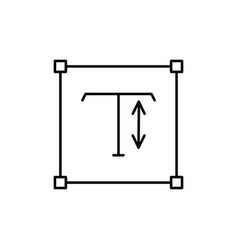 touch type tool icon vector image