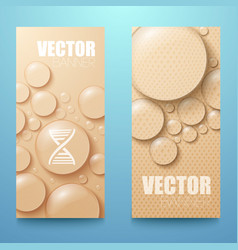 water drops vertical banners set vector image vector image