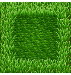 Square on green grass vector