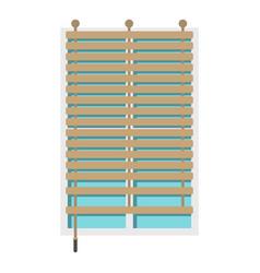 window with wooden jalousie icon isolated vector image