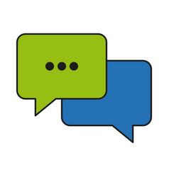 bubble speech communication dialog talk vector image