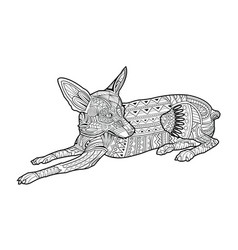 cute coloring page dog of breed chihuahua vector image