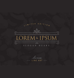 Luxury logos flourishes calligraphy elegant vector