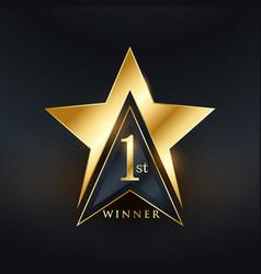 Creative no 1 star label golden design vector