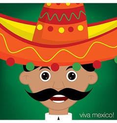 Mexican man character in format vector