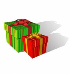 Two holiday boxes vector