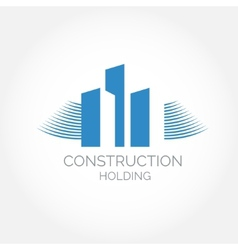 Abstract construction of house easy to change vector