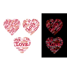 Heart made of lettering vector image