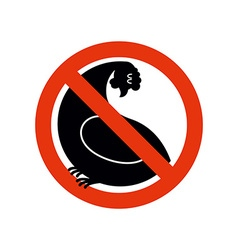 Stop chicken hen trespassing banning red sign vector