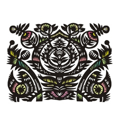 Black decorative floral pattern vector