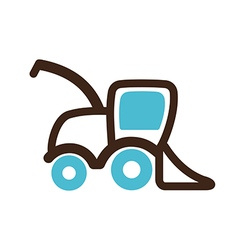 Combine harvester icon farm vector