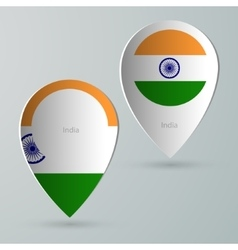Paper of map marker for maps india vector
