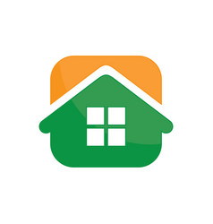 abstract house icon logo image vector image