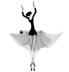 ballet girl and pin vector image