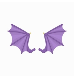 Bat wings icon cartoon style vector image