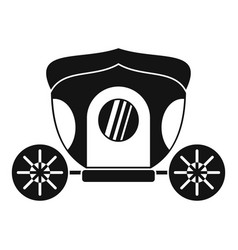 Brougham icon simple style vector