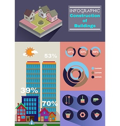Building infographic vector