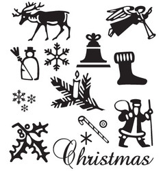 Christmas ornament set vector image vector image