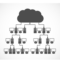 computer network concept Modern design template vector image