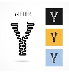 Creative Y - letter icon abstract logo design vector image