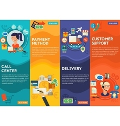 Customersupport call center payment methods vector