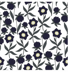 Dark flowers seamless pattern for decoration vector