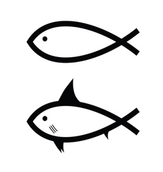 fish black and white vector image vector image