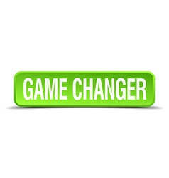 game changer green 3d realistic square isolated vector image vector image