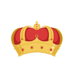 golden pope or king crown crown with red velvet vector image