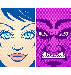 good evil 2017 vector image vector image