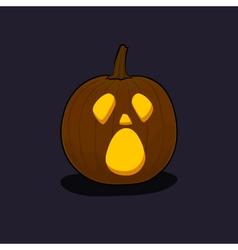 Halloween Cry Pumpkin on Dark Background vector image vector image