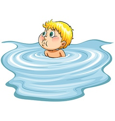 Head above the water idiom vector image
