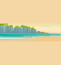 hello summer beach vacation sand tropical seaside vector image vector image