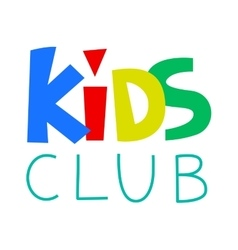 Kids club logo template vector