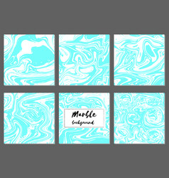 Marble hand drawn texture background card template vector