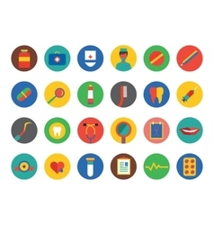 Medical Icons Set Health Tools or Tooth vector image