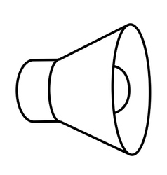 megaphone isolated icon design vector image