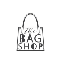 The bag shop Isolated on white background vector image
