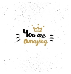 You are amazing quote vector image vector image